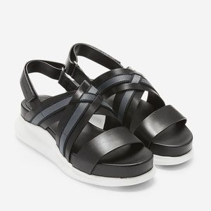 Cole Haan 2 Zerogrand Criss Cross Black Sandals